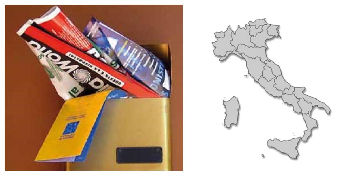 distribuzione volantini Italia regioni
